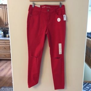 NWTOld Navy red super skinny jeans/Rockstar size 6